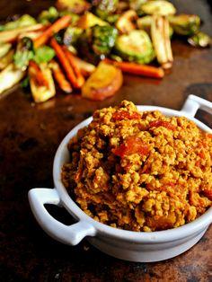 Ground Chicken Curry paleo whole30 #PaleoFoodieKitchen