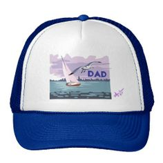"""Sailing """"Dad"""" Trucker Hat by MoonDreams Music - Great Father's Day Gift! #truckerhat #cap #dad #FathersDay #father #daddy #moondreamsmusic"""