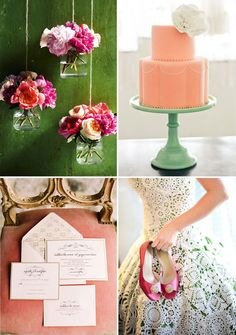 Pink and Green should always be seen!  Pink Green Wedding Inspiration Board