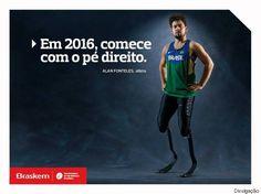 Atletas paralímpicos são as estrelas da campanha da Braskem: 2016 é o ano da…
