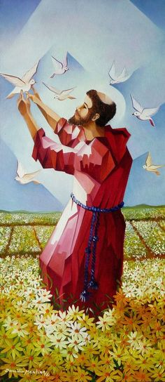 Catholic Art, Catholic Saints, Patron Saints, Religious Art, Ste Claire, St Francisco, Holy Art, St Clare's, Francis Of Assisi