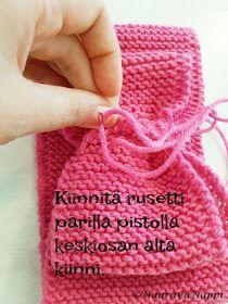 neulottu rusettipanta ohje drops merino Knitting, Tricot, Breien, Knitting And Crocheting, Crochet, Cable Knitting, Stitches, Weaving, Tejidos