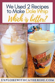 "Recently, Disney released a ""at home"" recipe for Dole Whip. Surprisingly, it's different than the one I've been using for years. So, which tastes better? Disney Land, Disney Home, Disney Tips, Walt Disney World, Disney Recipes, Disney Desserts, Recipe Boards, Broccoli Recipes, Fish Recipes"