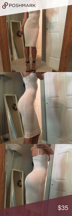 """✨Cream Bodycon dress✨ ✨BRAND NEW, never worn                                                    ✨Price is FIRM unless bundled  ✨Not from listed brand, boutique brand  ✨ No trades  ✨ Fast shipper (same or next day) ✈️  ✨ Sizes available: Small ✨Fabric: Cotton & spandex blend            ✨Hips: 21~25"""" bust: 25.39"""" Lovers + Friends Dresses Midi"""