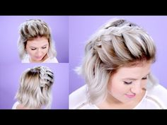 How To French Braid Short Hair Tutorial | Milabu - YouTube