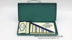 Intatwyne Designs- Independent Stampin' Up! UK Demo - Slim Gift Box Using The True Gentleman Suite by Stampin' Up!