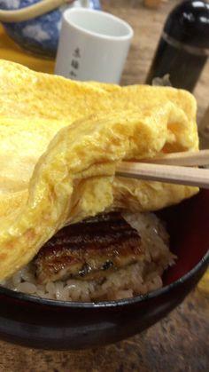 京都新京極かねよのきんし丼。egg roll and ever donburi,Kyoto,Japnn