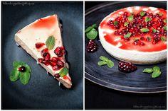 Nepečený cheesecake s granátkovým jablkem - unbaked cheesecake with pomegranate www.peknevypecenyblog.cz