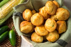 The flavor of these buttery, miniature muffins is amped up with sautéed corn kernels and jalapeño chiles They are the perfect accompaniment to a pot of beans, but are tender and delicate enough to serve with an elegant chicken stew. Corn Muffins, Muffin Recipes, Bread Recipes, Corn Recipes, Bread And Pastries, Cooking Light Recipes, Cooking Corn, Four, Cooking Nytimes
