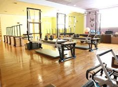Reformer and Chair Room - www.njpilates.com Namaste, Pilates, Flow, Centre, Conference Room, Dreams, Studio, Chair, Table