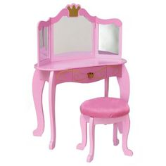 (click twice for updated pricing and more info) Jewelry Armoire Furniture - KidKraft Pink Princess Bedroom Vanity Set http://www.plainandsimpledeals.com/prod.php?node=46803=Jewelry_Armoire_Furniture_-_KidKraft_Pink_Princess_Bedroom_Vanity_Set_-_KD042 #jewelry_armoires