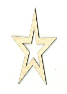 Star Unfinished Laser Cut Wood Shape BSC2