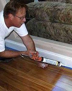 Caulk Gaps Under Bottom Of Baseboards Without The Mess