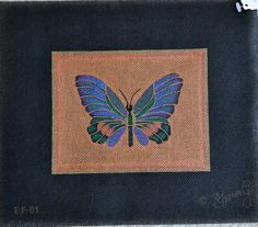 Butterfly; Sharon G; BF 01; 18 count; 11 x 10; $40 - Retail $80.  Send mailing address to Pamela Harding at needlearts@comcast.net.
