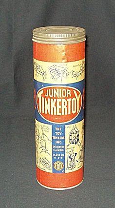 Junior Tinker Toy Set in Original Canister
