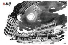 【設計大人物】Nuomi 的插畫旅行地圖--- 台北人們的回憶,西門町與艋舺 | 大人物