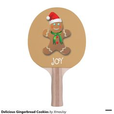 Delicious Gingerbread Cookies Ping Pong Paddle   VIP Early Access To Black Friday Savings - Up to 65% OFF for Black Friday     USE CODE: ZAZBLKFRIDAY   Offer is valid through November 27, 2015 12:59PM PT.