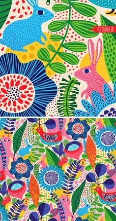 garden illustration orange you lucky! Illustration Arte, Garden Illustration, Pattern Illustration, Illustrations, Surface Pattern Design, Pattern Art, Designers Gráficos, Posca Art, Garden Drawing