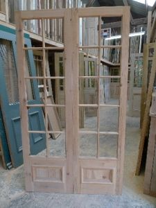 French doors reproduction reclaimed pine
