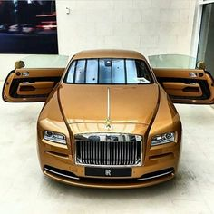 Golden Rolls Royce ... #Transportation #Cars #Trucks #Boats #Design #Motorcycles #Concept