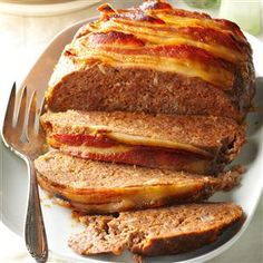 Bacon-Topped Meat Loaf Recipe