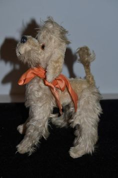 Old Doll Dog Poodle Mohair For Fashion Doll Sweet! Stuffed Animal