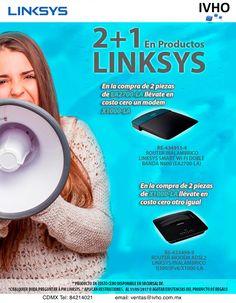 ¡2 X 1 en Productos Linksys! #Linksys #Cisco Promoción valida hasta el 31 de mayo.