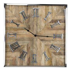Ceas de perete patrat Richmond Aiden H 60cm Studio 57, Richmond Interiors, London Clock, Wood Glass, Energy Star, Manga, Wood Species, Country Of Origin, Retro