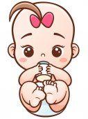 Lindo bebé de la historieta — Vector de stock