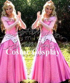 Princess Aurora Dress,Sleeping Beauty Costume, Sleeping Beauty Cosplay Costume