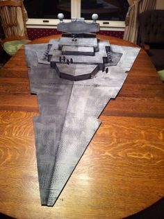 3D Star Destroyer / Imperial Cruiser (made from Cardboard) | Star Wars: X-Wing Miniatures Game | BoardGameGeek