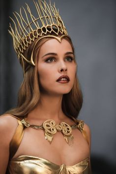 Athena, Greek goddess from the Immortals- by Costume designer Eiko Ishioka. This is just a costume, but I love the crown...