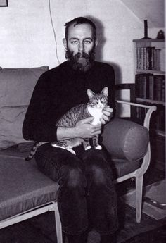 Edward Gorey and cat