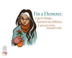 Greek Goddess Demeter Art Print by LipsticKissPress  #PJO