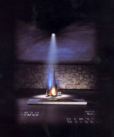 Eternal flame in the Hall of Remembrance - Yad Vashem, world center for Holocaust research, documentation, education and commemoration and dynamic place of intergenerational and international encounter.