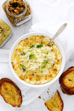 Not your everyday artichoke dip. This easy appetizer is a flavorful addition to your entertaining arsenal featuring best-loved Mediterranean ingredients. Olive Recipes, Italian Recipes, Yummy Appetizers, Appetizer Recipes, Dip Recipes, Hot Cheese Dips, Cold Pasta Dishes, Picnic Side Dishes, Mediterranean Recipes