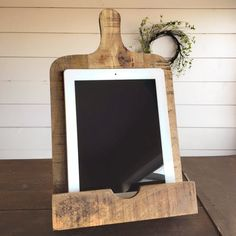 Cookbook and Tablet Stand for the kitchen Yarrow Avenue Collection www.yarrowavenuecollection.com Home Decor Store Farmhouse Decor Farmhouse Decor Store