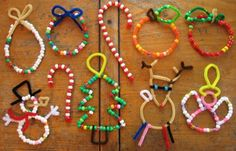plumpudding: Beaded Christmas ornaments - Great classroom project!