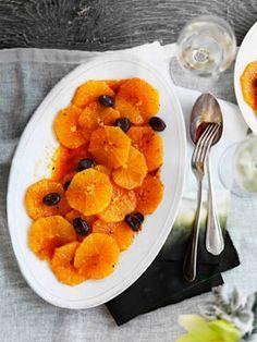 Orange and olive salad.  Looks interesting