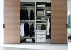 Getting Proper Wardrobe Design to Make One on Your Bedroom: Fantastic Contemporary Fitted Wardrobe Ideas Sliding Door For Efficient Space In Bedroom ~ workdon.com Furniture Inspiration