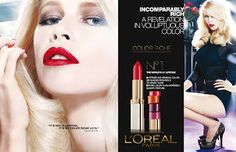 German ÜberModel Claudia Schiffer is ''A Revelation in Voluptuous Color'' Ads Lipstick, Makeup Poster, Tissue Engineering, Beauty Companies, Claudia Schiffer, L'oréal Paris, Trees To Plant, Loreal, Makeup Cosmetics
