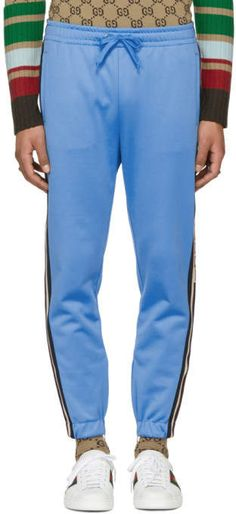 Gucci for Men Collection Mens Athletic Pants, Gucci Outfits, Harem Pants, Sweatpants, Tape, Shopping, Collection, Logo, Logos