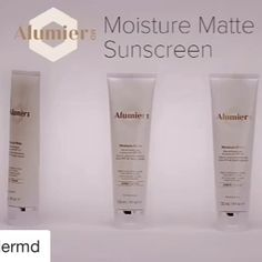 Alumier matte moisturisers in Ivory, Sand and Amber provide chemical free SPF 40  foundation-like coverage. Blue, pink and yellow toned.  #alumiermd  #matte #mineralspf #chemicalfreeskincare