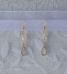 Beaded Golden Drop Earrings