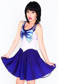 Sailor Mercury Dress from Living Dead Clothing! www.beserk.com.au/living-dead-clothing  #Livingdeadclothing #Sailormercury