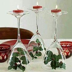 Glasses candlestisks