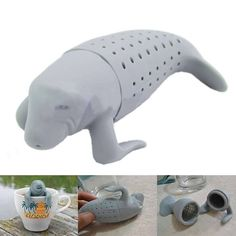 QUIRKY TEA INFUSERS Oh my what a sweet little gift idea - love this manaTEA infuser (get it!?) - but check out the rest... there is a shark and a bathing man etc and they are all brilliant. And you are only looking at a couple of $$/ £3-4 each!