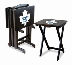 Toronto Maple Leafs NHL Team Logo TV Trays/Tailgate Tables