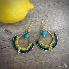 macrame earrings beaded earrings acai beads glass seed