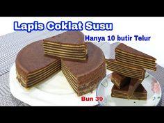 Lapis Coklat Susu Hanya 10 Butir Telur Enak 👍Banget - YouTube Lapis Legit, Resep Cake, Afternoon Tea, Layers, Make It Yourself, Snacks, Cookies, Desserts, Food